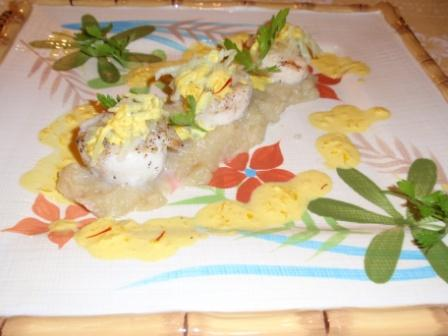 SEA SCALLOPS, SAFFRON SAUCE AND APPLE JULIENNE | French Recipes and ...