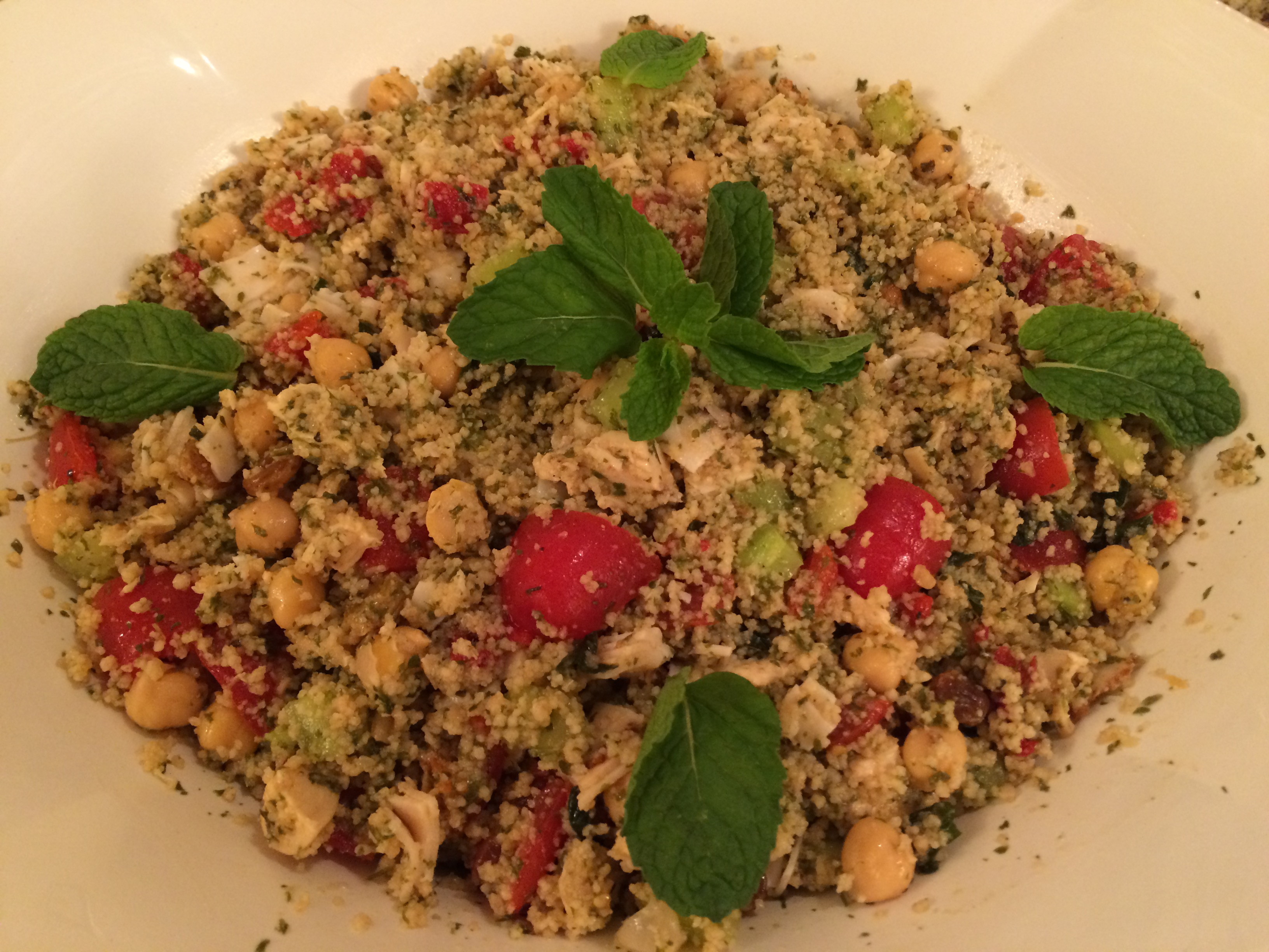 TABOULI SALAD WITH VEGETABLES AND ROASTED CHICKEN | French Recipes and ...